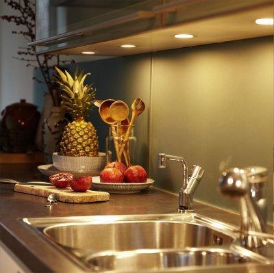 Konyhai okos pultvilágítás - konyha / étkező ötlet, modern stílusban