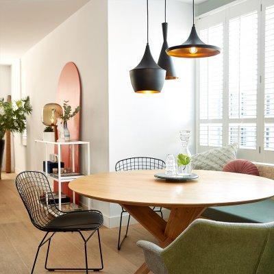 Lenyűgöző világítás okos fényforrásokkal - konyha / étkező ötlet, modern stílusban