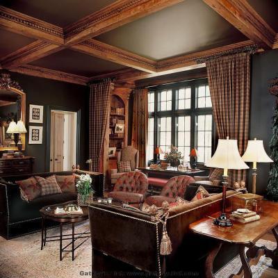 Szigorú összhang - nappali ötlet, klasszikus stílusban