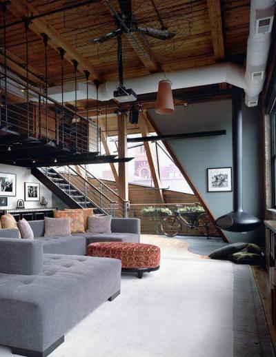 Loftok1 - tetőtér ötlet, modern stílusban