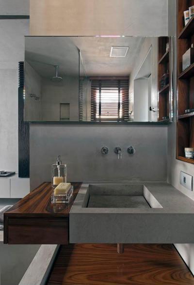 Loftok42 - fürdő / WC ötlet, modern stílusban
