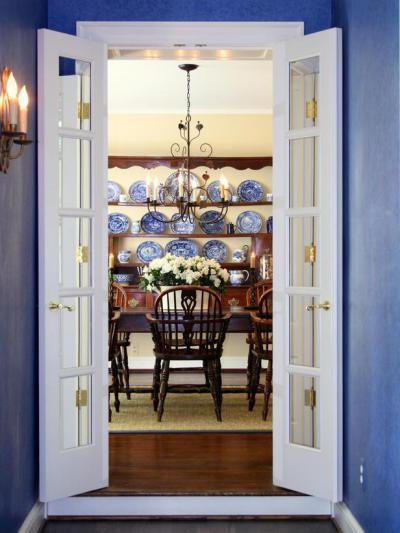 Színes,mintás fal35 - konyha / étkező ötlet, klasszikus stílusban