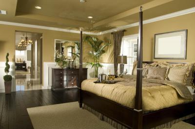 Hálószoba zöldben - háló ötlet, klasszikus stílusban