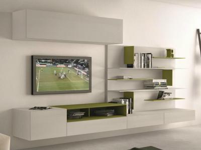 Egy csipet zöld a fehérségbe - nappali ötlet, minimál stílusban