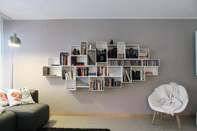 Tökéletes kuszaság - nappali ötlet, modern stílusban