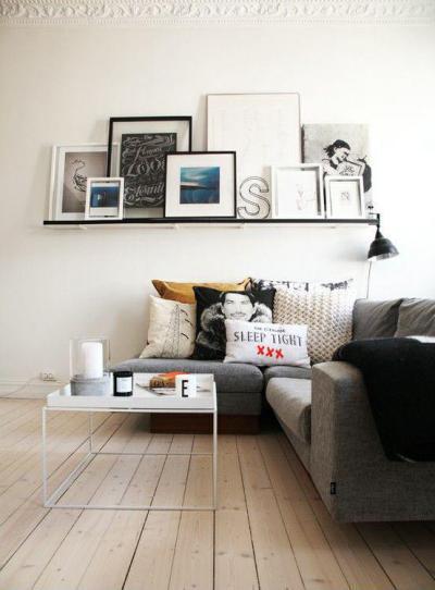 Modern és fiatalos - nappali ötlet, modern stílusban