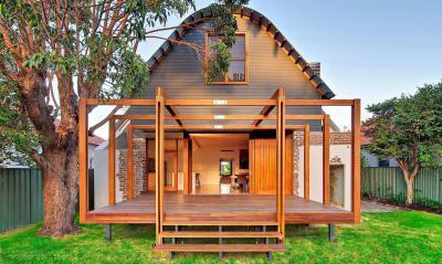 Tetszetős hátsókert - kert / udvar ötlet, modern stílusban