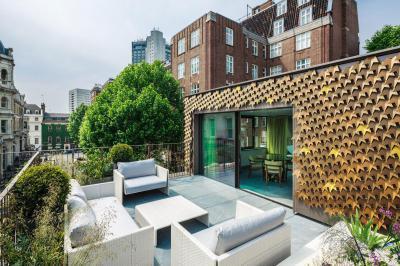 Tetőterasz a városban - erkély / terasz ötlet, modern stílusban