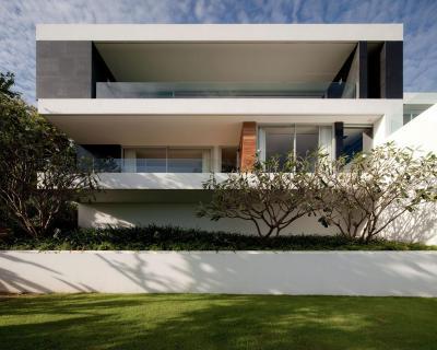 Ház a parton1 - homlokzat ötlet, modern stílusban