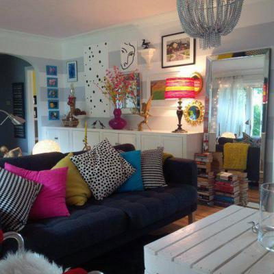 Bohókás hétköznapok - nappali ötlet, modern stílusban