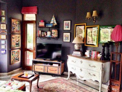 Szürke és rózsaszín - nappali ötlet
