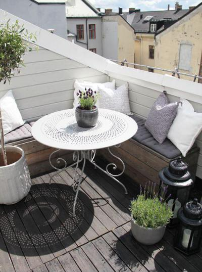 Levendula erkély - erkély / terasz ötlet