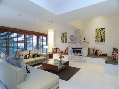 Kandallós házak97 - nappali ötlet, modern stílusban