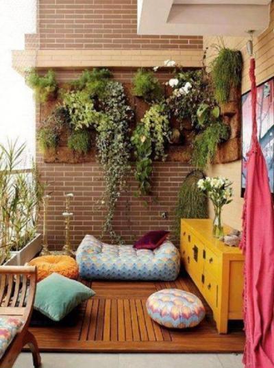 Kipárnázva - erkély / terasz ötlet, modern stílusban