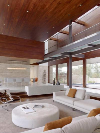 Magas terek - nappali ötlet, modern stílusban