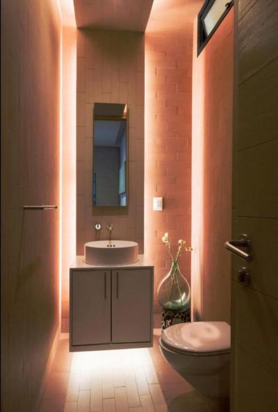 hangulatos toalett - fürdő / WC ötlet, modern stílusban