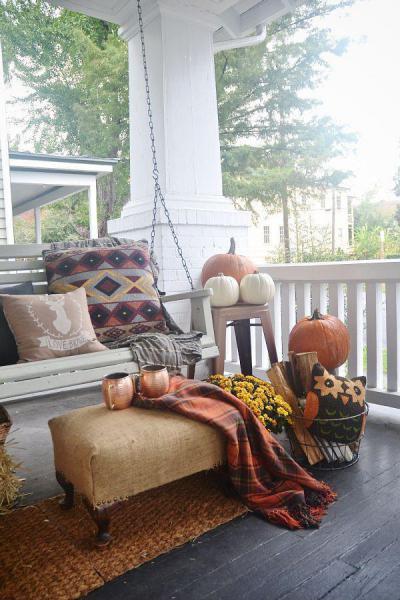 Őszi hangulat a teraszon - kert / udvar ötlet, modern stílusban