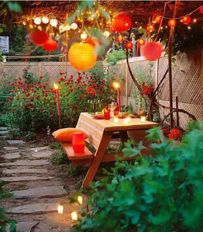 Romantikus őszi kert - kert / udvar ötlet, modern stílusban