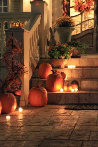 Tökök a lépcsőn - kert / udvar ötlet, modern stílusban