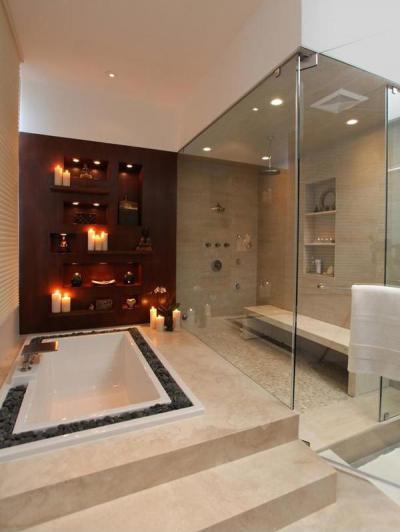 Luxus a fürdőszobában - fürdő / WC ötlet, modern stílusban