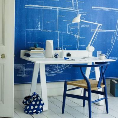 Tervező szobája - dolgozószoba ötlet, modern stílusban