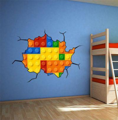 Legó fal - gyerekszoba ötlet, modern stílusban