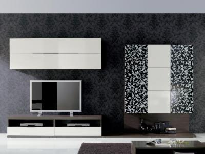 Gótikus tapétás nappali - nappali ötlet, modern stílusban