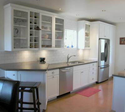 Fehér-Króm konyha - konyha / étkező ötlet, modern stílusban