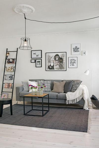 Képekbe zárt üzenetek - nappali ötlet, modern stílusban