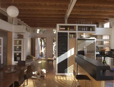 Nagy tér elválasztásokkal - konyha / étkező ötlet, modern stílusban