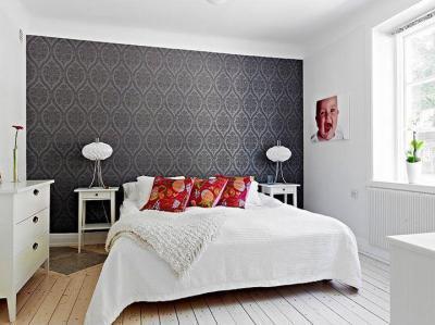 Kényelmes hálószoba - háló ötlet, modern stílusban