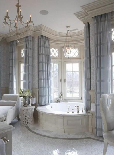 Luxus fürdő - fürdő / WC ötlet, klasszikus stílusban