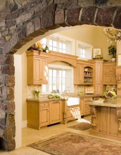 Fa bútoros konyha - konyha / étkező ötlet, klasszikus stílusban