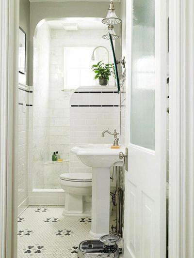Mozaikcsempés padló - fürdő / WC ötlet, klasszikus stílusban