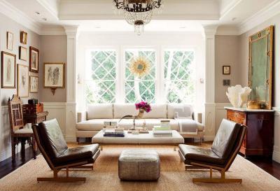 Hatalmas ablakos nappali - nappali ötlet, klasszikus stílusban