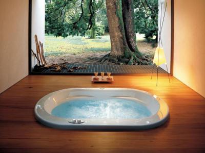 Csak egy jacuzzi kell a pihenéshez  - fürdő / WC ötlet, modern stílusban