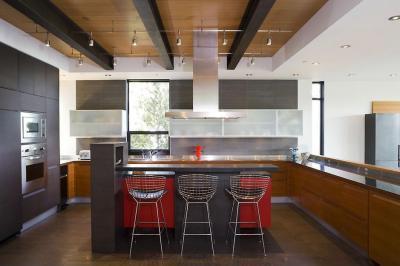 Egy kis piros mindig elfér - konyha / étkező ötlet, modern stílusban