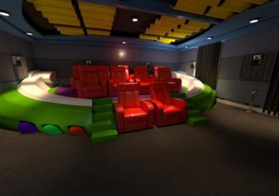 Házi mozi  - nappali ötlet, modern stílusban