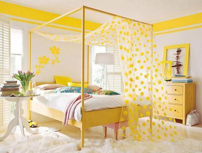 Sárga pöttyös háló - háló ötlet, modern stílusban