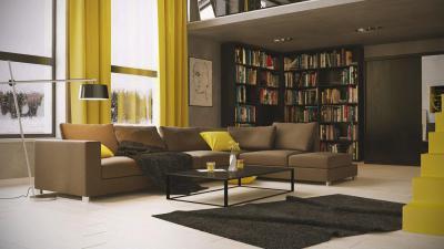 Óriási nappali - nappali ötlet, modern stílusban