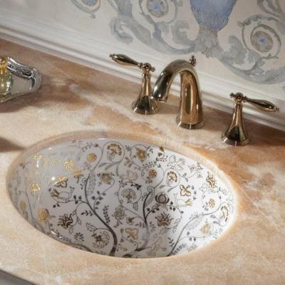 Arany mosdó - fürdő / WC ötlet, klasszikus stílusban