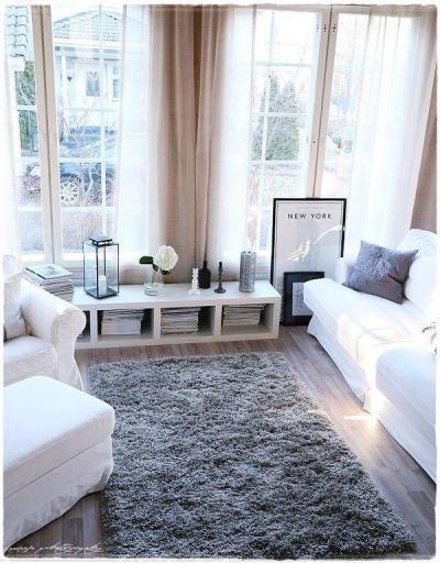 Téli nappali - nappali ötlet, modern stílusban