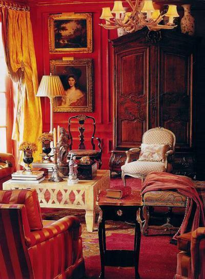 Királyi elegancia - nappali ötlet, klasszikus stílusban