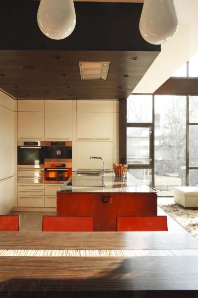 Modern lakás Atlantában - konyha / étkező ötlet, modern stílusban