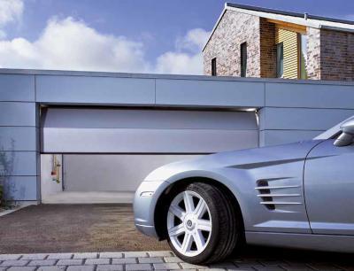Modern szekcionált garázskapu - garázs ötlet, modern stílusban