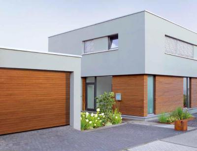 Modern garázs-redőnykapu - garázs ötlet, modern stílusban