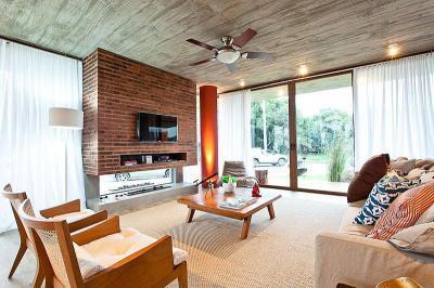 Tengerparti villa - nappali ötlet, modern stílusban
