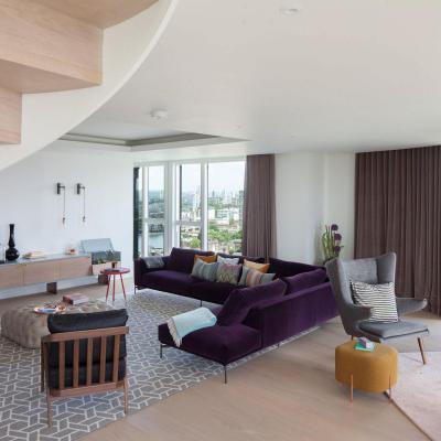 Vegyes bútorok - nappali ötlet, modern stílusban