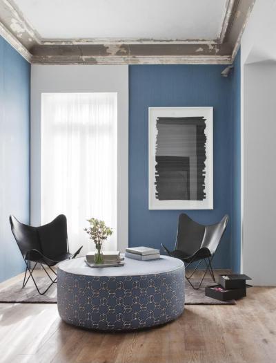 Kék nappali - nappali ötlet, modern stílusban