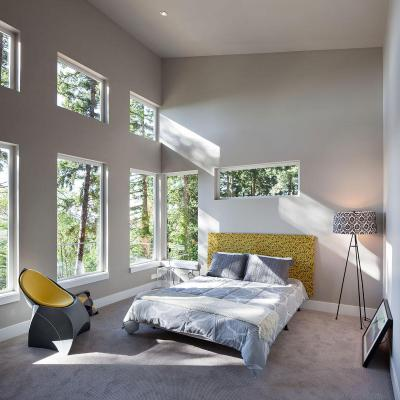 Napfényes hálószoba - háló ötlet, modern stílusban